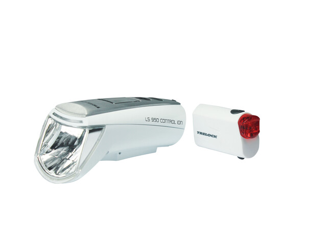 Trelock LS 950 CONTROL ION / LS 720 Beleuchtungsset Cykellysen Set vit